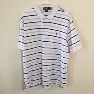 3/$20 Polo by Ralph Lauren blue and white stripe